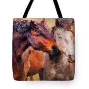 Horse Snuggle Tote Bag