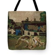 Horse Statue In The Field 1 Tote Bag