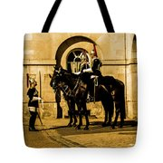 Horseguards Inspection. Tote Bag