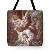Horseman Attacked Tote Bag