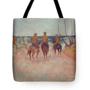 Horseman On The Beach Tote Bag