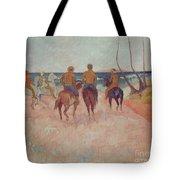 Horseman On The Beach Tote Bag by Paul Gauguin