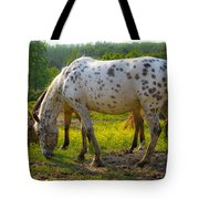 Horses And Buttercups Tote Bag