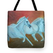 Horses Gone Wild Tote Bag
