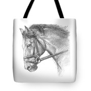 Horse's Head With Bridle Tote Bag