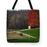 Horses In Autumn Tote Bag