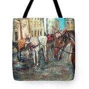 Horses In Florence Tote Bag