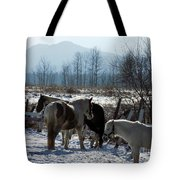 Horses In Front Of Quaggy Jo Tote Bag