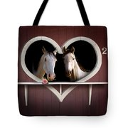 Horses In Stable Tote Bag