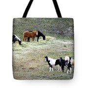 Horses In The Highlands Tote Bag