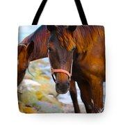 Horses On Jost  Tote Bag