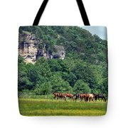 Horses On The Rubideaux Tote Bag