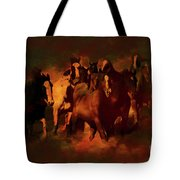 Horses Paintings 34b Tote Bag