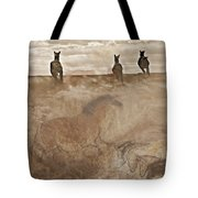 Horses Run With Us Collage Tote Bag