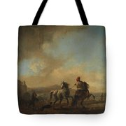 Horses Startled By A Dog Ca Tote Bag