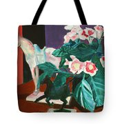 Horses With Floral Tote Bag