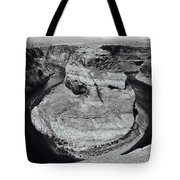 Horseshoe Bend In Black And White Tote Bag