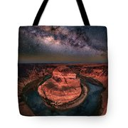 Horseshoe Bend With Milkyway Tote Bag