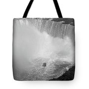 Horseshoe Falls Black And White Tote Bag