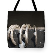 Horseshoes Tote Bag by Danielle Allard