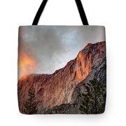 Horsetail Falls Cloudy Sunset Tote Bag