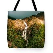 Horsetail Falls In Queenstown Tasmania Tote Bag