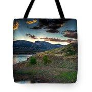 Horsetooth Reservior At Sunset Tote Bag
