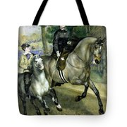 Horsewoman In The Bois De Boulogne Tote Bag