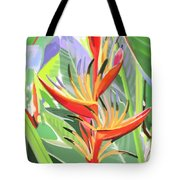Hort Park Heliconia Tote Bag