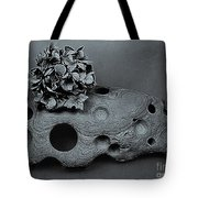 Hortensia Stone Circle Of Life Bw Tote Bag