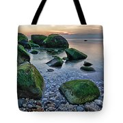 Horton Point Ny At Sunset Tote Bag