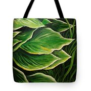 Hostas And Grass Painting Tote Bag