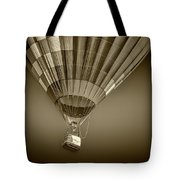 Hot Air Balloon And Bucket In Sepia Tone Tote Bag