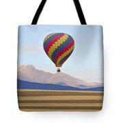 Hot Air Balloon And Longs Peak Tote Bag