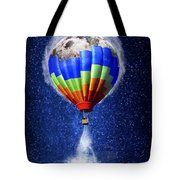 Hot Air Balloon / Digital Art Tote Bag