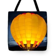 Hot Air Balloon Glow Tote Bag
