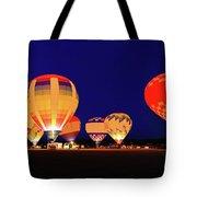 Hot Air Balloon Night Glow Tote Bag