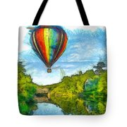 Hot Air Balloon Woodstock Vermont Pencil Tote Bag