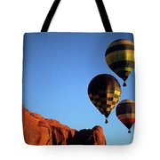 Hot Air Balloon Monument Valley 5 Tote Bag