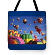 Beautiful Balloons On Blue Sky Tote Bag