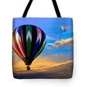 Hot Air Balloons At Sunset Tote Bag