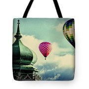 Hot Air Balloons Float Over Lewiston Maine Tote Bag