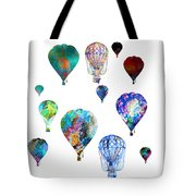 Hot Air Balloons Tote Bag by Michael Colgate