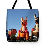 Hot Air Kangaroos Tote Bag