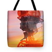 Hot And Steamy Man Engine Tote Bag