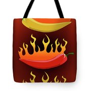 Hot Chilies Tote Bag