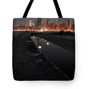 Chicago Hot City At Night Tote Bag