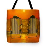 Hot Day At The Beach Tote Bag