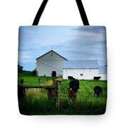 Hot Eve Night On The Farm Tote Bag