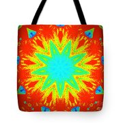 Hot Kaleidoscope Flower Tote Bag